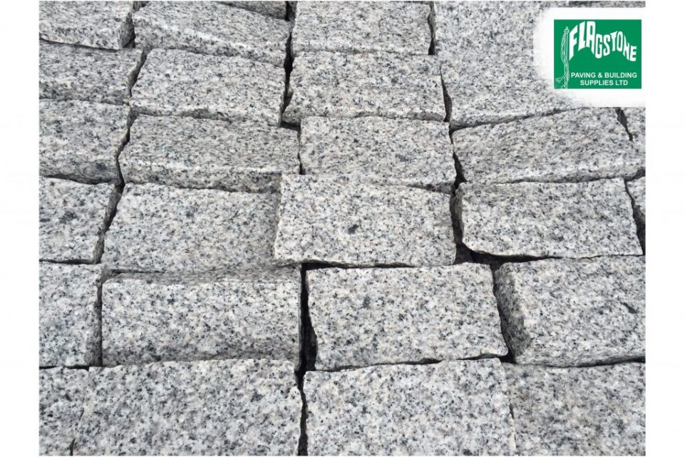 silver grey granite setts 200mm x 100mm x 100mm