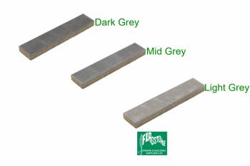 Stonemaster strips in mixed greys Light grey washed Mid grey washed Dark grey washed