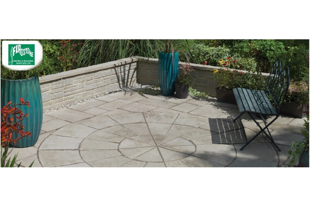 Bradstone old town paving grey green