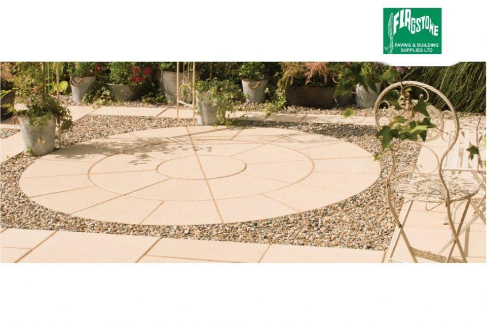 Buff Textured 2.4m diameter circle