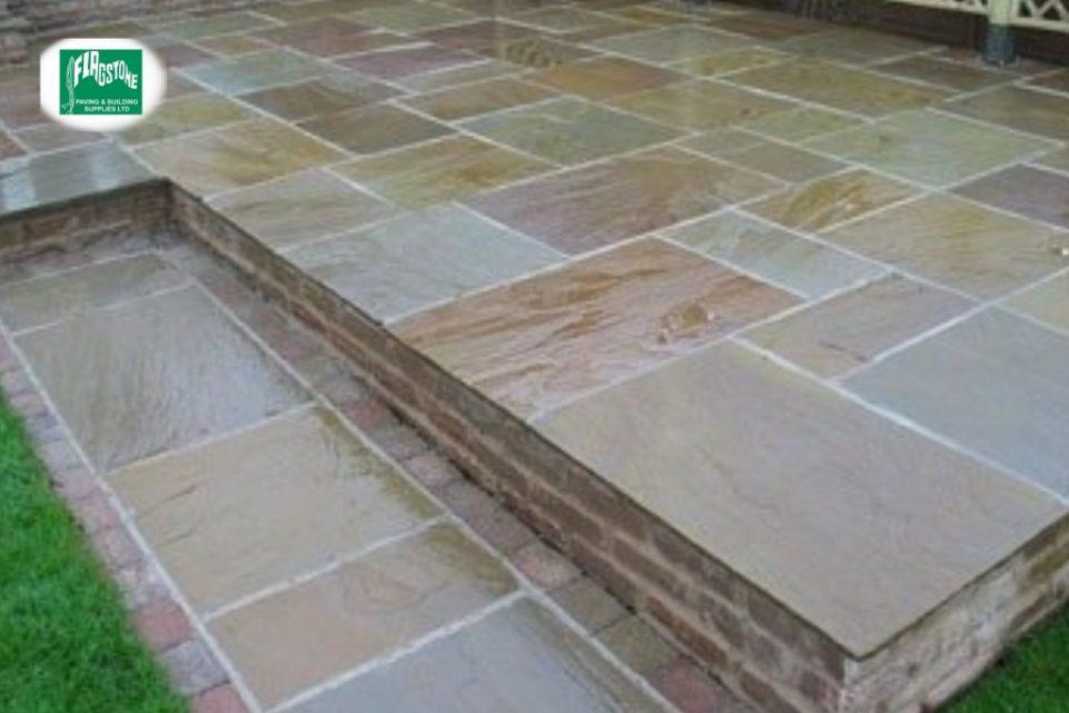 Raj Blend natural sandstone sealed with Nexus colour enhancing sealer