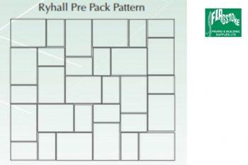 Ryhall patio pack 6.08 sqm: 15no 600mmx450mm 15no 450mmx300mm