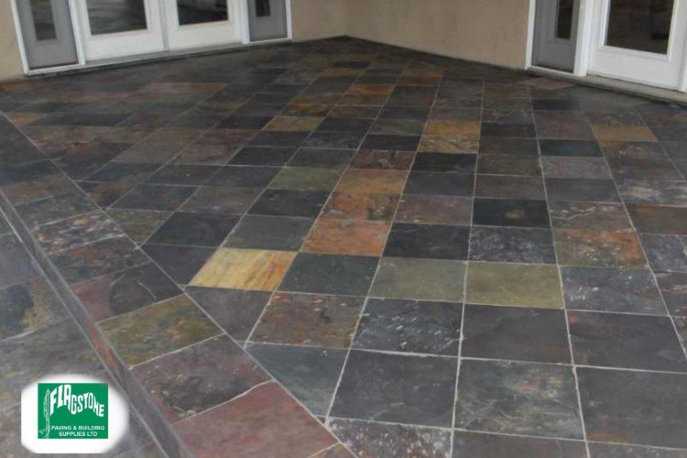 Vijaya gold slate tiles sealed with Nexus colour enhancing sealer