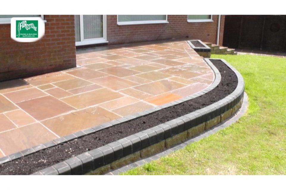 Autumn Blend natural sandstone sealed with Nexus colour enhancing sealer