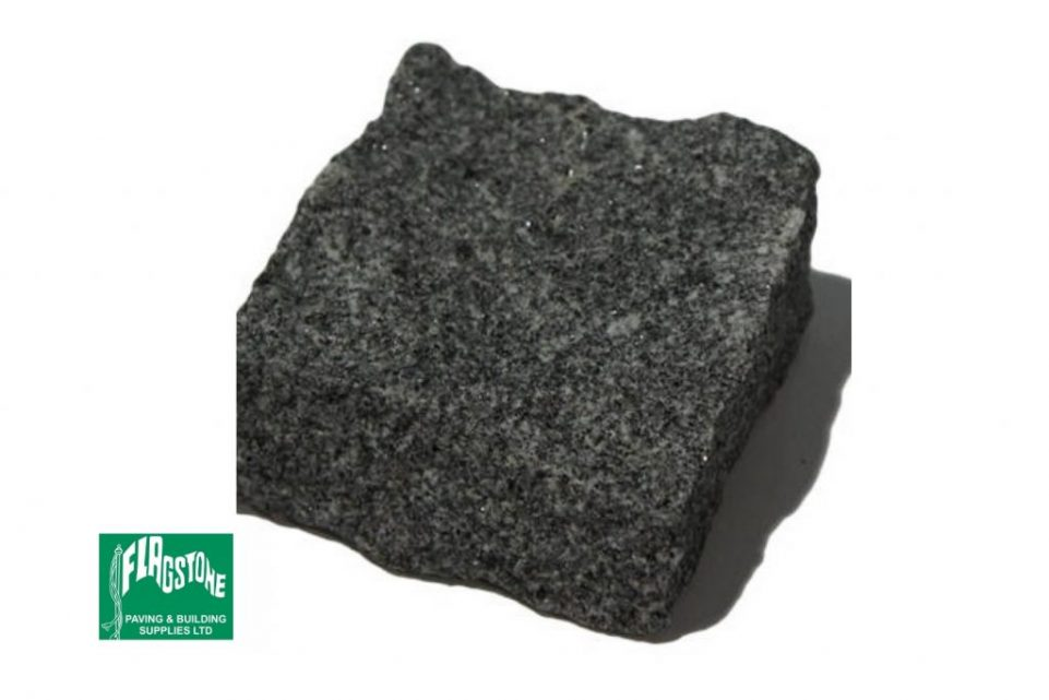 black granite sett 100mm x 100mm