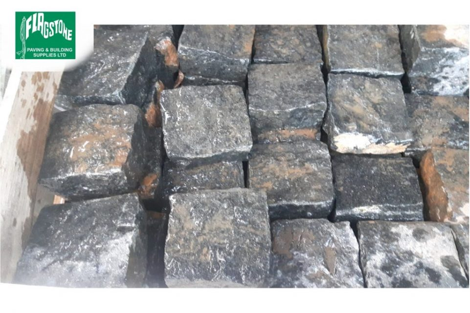 black granite setts 100mm x 100mm