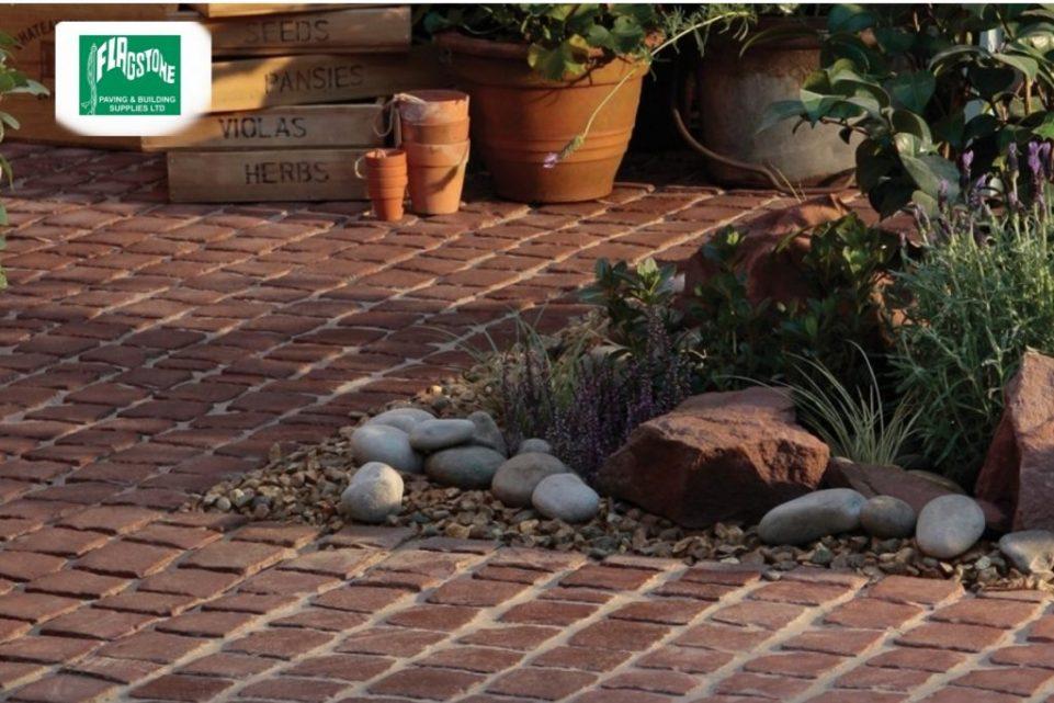 cobble carpet stones rustic red