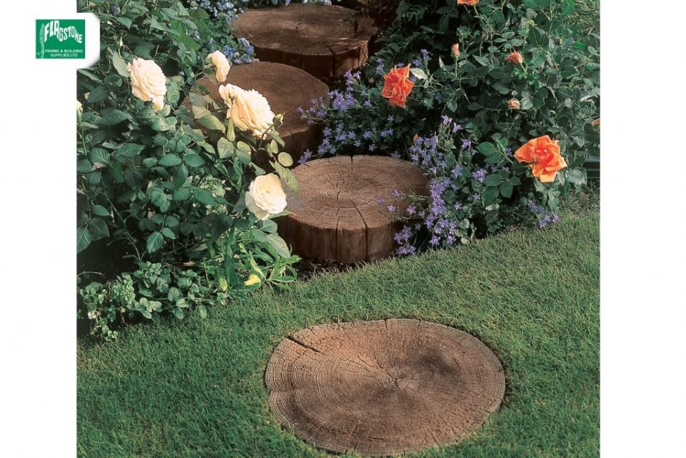 log stepping stones