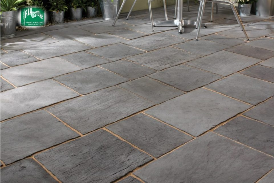 Layered Slate Effect Paving