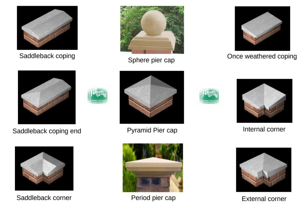 Pier cap and coping range