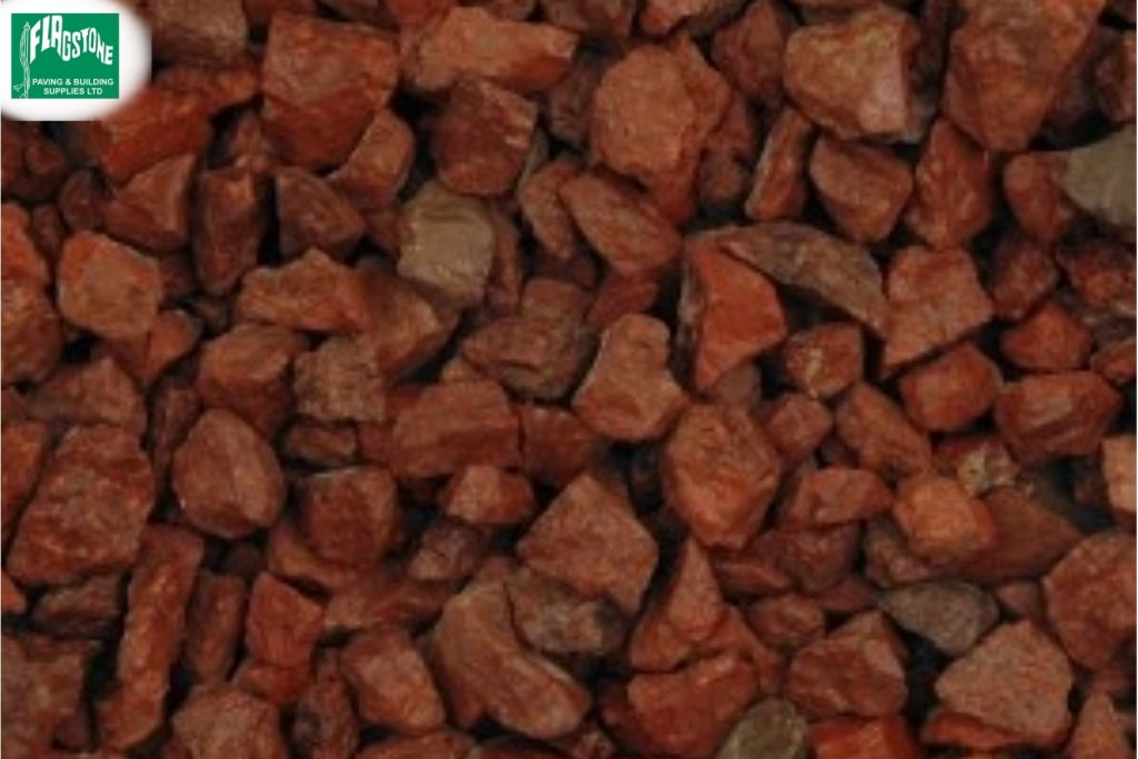 14mm Red Granite Chippings
