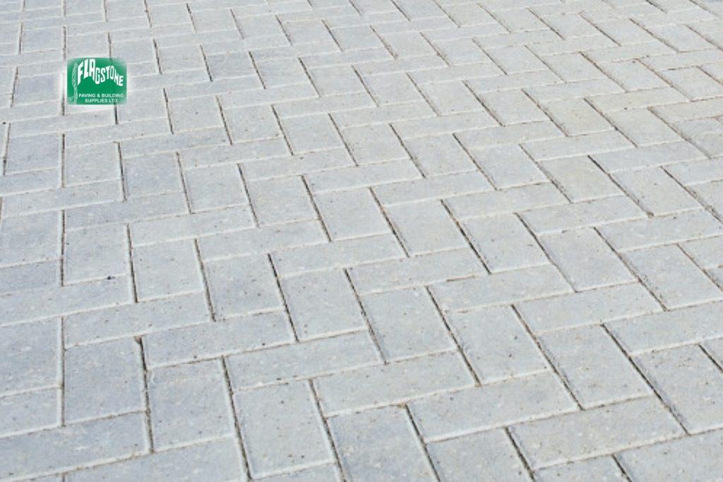 Grey driveway block pavers
